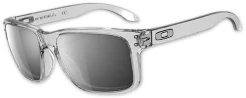 Oakley Holbrook Sunglasses - crystal clear/chrome iridium lens - view large