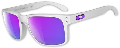 Oakley Holbrook Sunglasses - matte white/violet iridium lens - view large