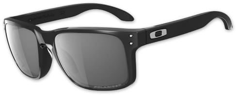 Oakley Holbrook Polarized Sunglasses - polished black/grey polarized lens - view large