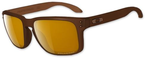Oakley Holbrook Polarized Sunglasses - matte rootbeer/bronze polarized lens - view large