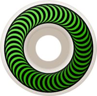 Spitfire Classic Skateboard Wheels - white/green (99d)
