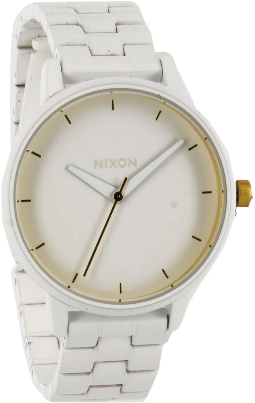 nixon kensington all white gold free shipping