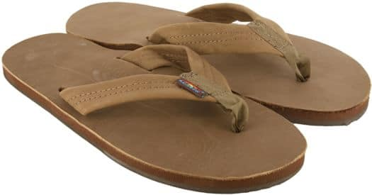 Rainbow Sandals Premier Leather Single Layer Sandals - dark brown - view large