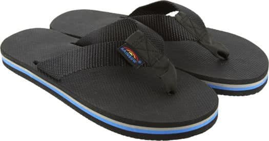 Rainbow Sandals Women's Classic Rubber Sandals - all black w/rainbow arch - view large