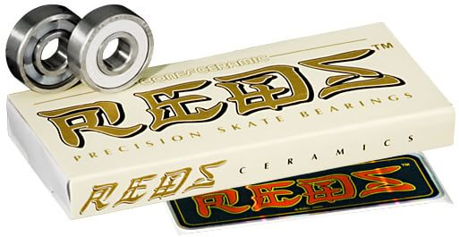 Bones Bearings Ceramic Super Reds Skateboard Bearings - white - view large