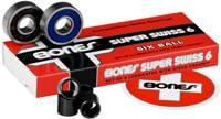 Bones Bearings Super Swiss 6 Skateboard Bearings - blue