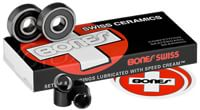 Bones Bearings Swiss Ceramic Skateboard Bearings - black