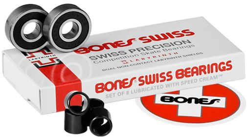 Bones Bearings Swiss Skateboard Bearings - view large