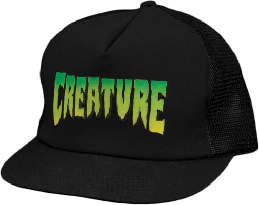 Creature Logo Mesh Trucker Hat - black - view large