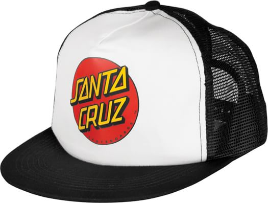 Santa Cruz Classic Dot Trucker Hat - black/white - view large