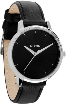 Nixon Kensington Leather Watch - black - view large