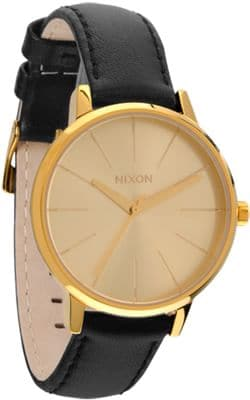 Nixon Kensington Leather Watch - gold - view large