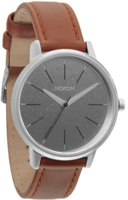 Nixon Kensington Leather Watch - saddle - view large