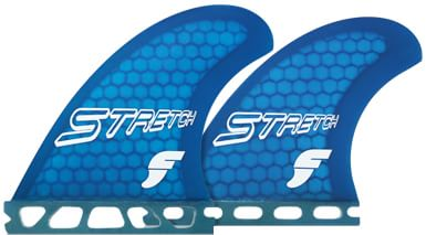 Futures Fins Stretch Quad Fin Set - Honeycomb - blue - view large