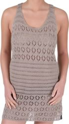 RVCA Black Leaf Dress - sandstorm
