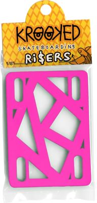 Krooked Skateboard Risers - hot pink - view large
