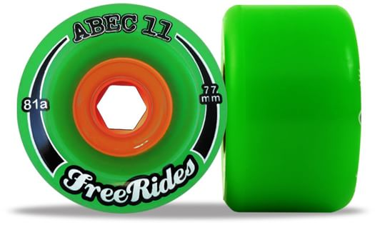 Abec 11 FreeRides Classic Formula Longboard Wheels - green (84a) - view large