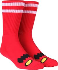 Toy Machine Monster Face Crew Sock - red
