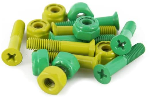 Shake Junt Phillips Bag-O-Bolts Skateboard Hardware - all green/yellow - view large