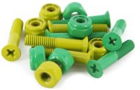Shake Junt Phillips Bag-O-Bolts Skateboard Hardware - all green/yellow