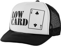 Lowcard Original Logo Mesh Trucker Hat - white panel/black mesh