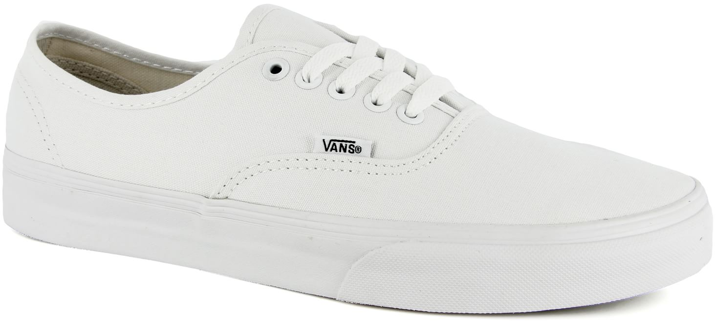 vans authentic skate shoes true white free shipping