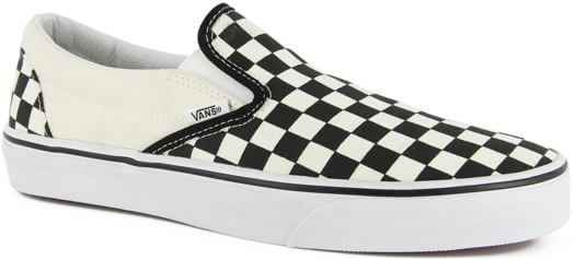 Vans Classic Slip-On Skate Shoes - black/white checker - view large