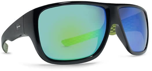 Dot Dash Aperture Sunglasses - black-lime/green chrome lens - view large