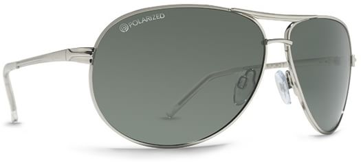 Dot Dash Buford T Sunglasses - silver gloss/grey polarized lens - view large