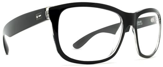 Dot Dash Poseur Sunglasses - black clear/clear lens
