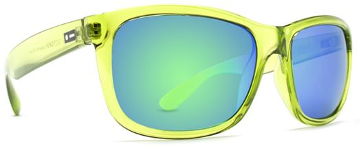 Dot Dash Poseur Sunglasses - lime translucent/green chrome lens - view large