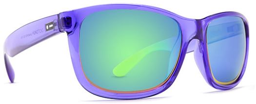 Dot Dash Poseur Sunglasses - purple translucent/green chrome lens - view large