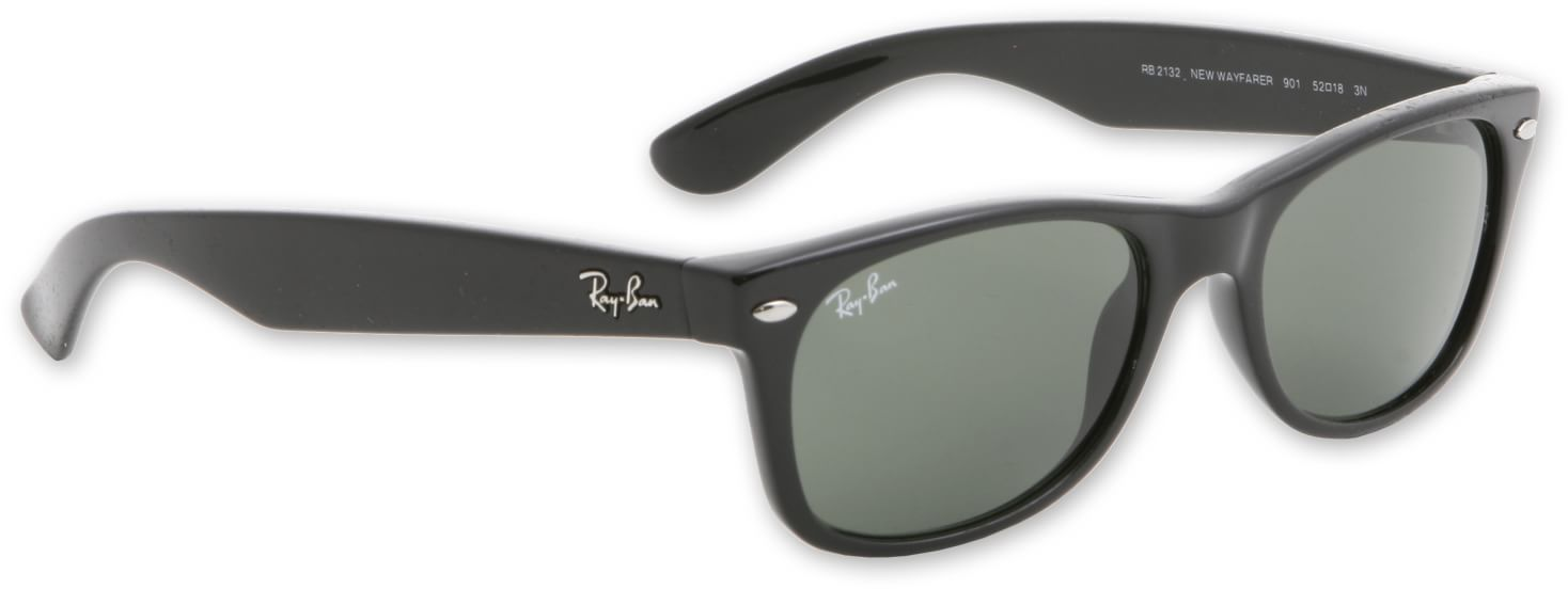 new wayfarer lenses  Ray-Ban New Wayfarer RB 2132 Sunglasses - 52mm black/g-15xlt lens ...