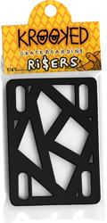 Krooked Skateboard Risers - black