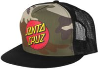 Santa Cruz Classic Dot Trucker Hat - camo/black