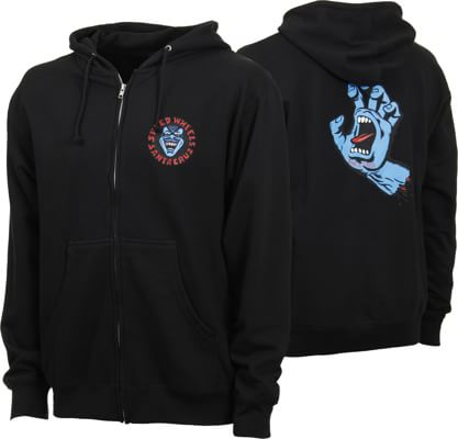 Santa Cruz Screaming Hand Zip Hoodie - view large