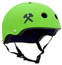S-One Lifer Dual Certified Multi-Impact Skate Helmet - bright green matte