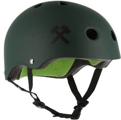 S-One Lifer Dual Certified Multi-Impact Skate Helmet - dark green matte - view large