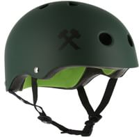S-One Lifer Dual Certified Multi-Impact Skate Helmet - dark green matte