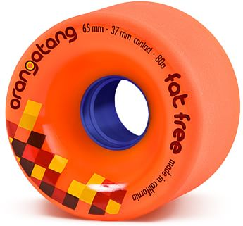 Orangatang Fat Free Freeride Longboard Wheels - orange (80a) - view large