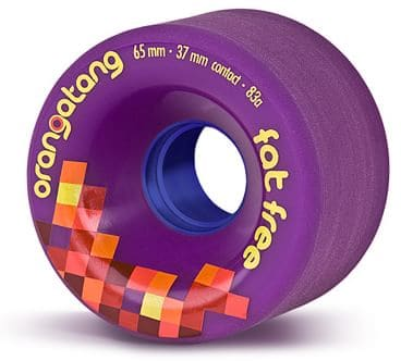 Orangatang Fat Free Freeride Longboard Wheels - purple (83a) - view large