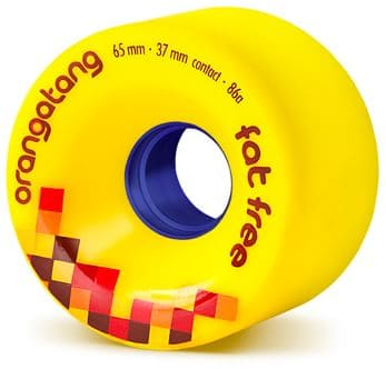 Orangatang Fat Free Freeride Longboard Wheels - yellow (86a) - view large