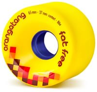 Orangatang Fat Free Freeride Longboard Wheels - yellow (86a)