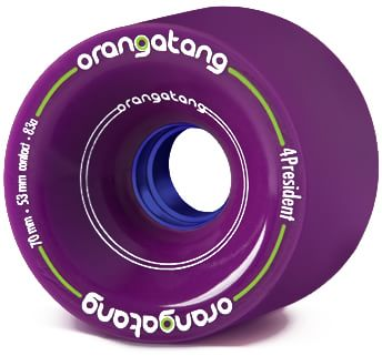 Orangatang 4President Carving/Race Longboard Wheels - purple (83a) - view large