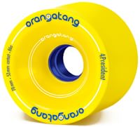 Orangatang 4President Carving/Race Longboard Wheels - yellow (86a)