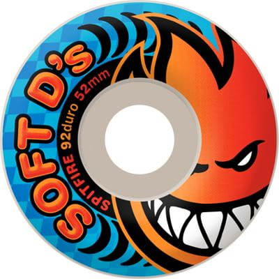 Spitfire Soft D's Skateboard Wheels - white (92d) - view large