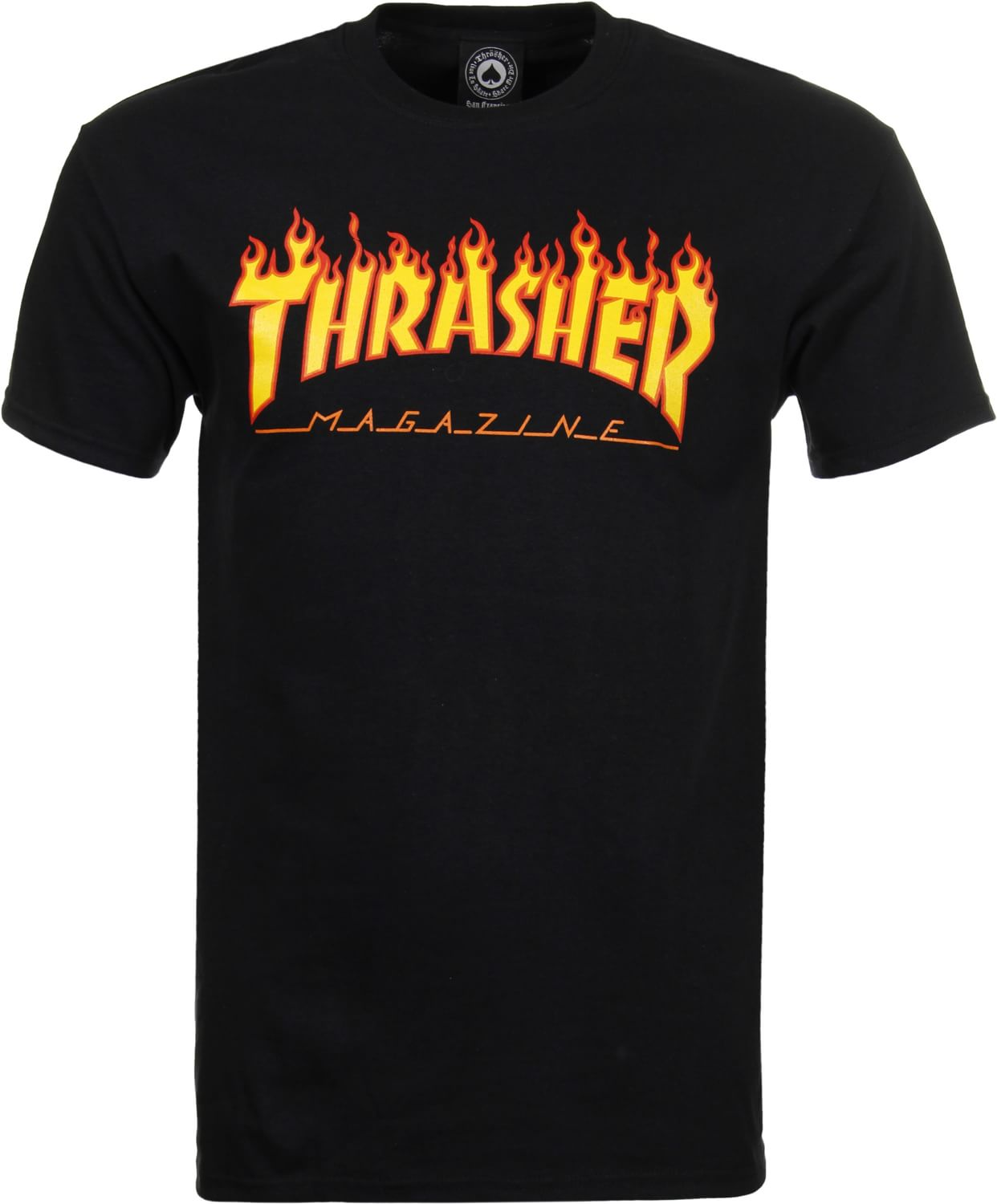 Thrasher flame t shirt free shipping for On fire brand t shirts