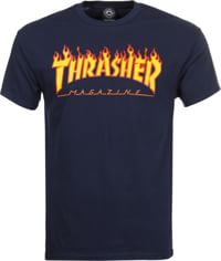 Thrasher Flame T-Shirt - navy
