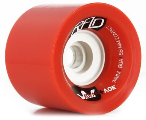 R.A.D. Advantage Longboard Wheels - red (80a) - view large