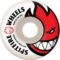 Spitfire Bighead Skateboard Wheels - white/red (99d)
